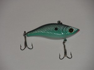 Close up of a lipless crank bait