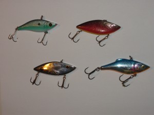 Variety of lipless crank baits