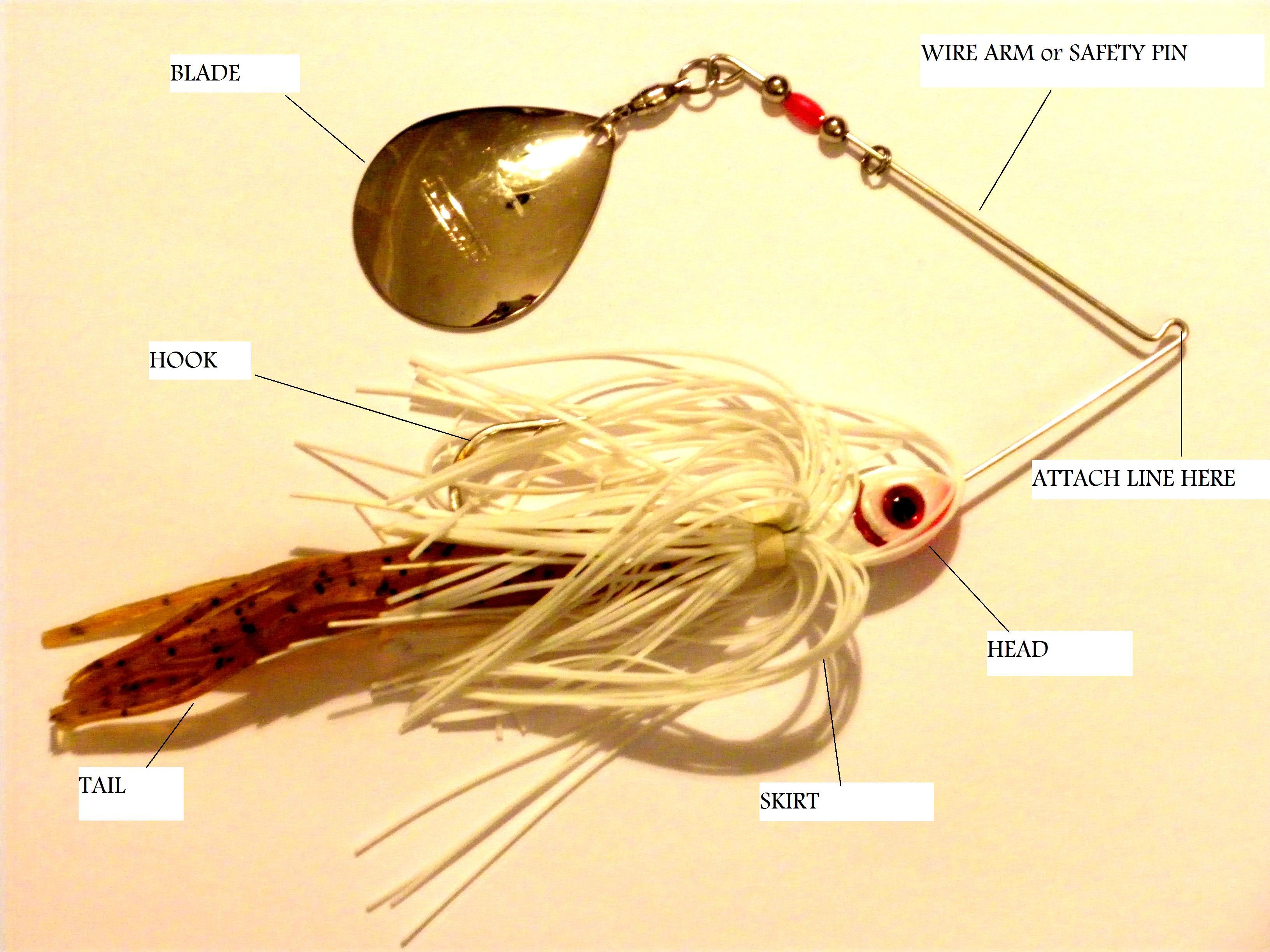 Spinner baits fishing basics fishing lures and fishing for How to make a fishing spinner